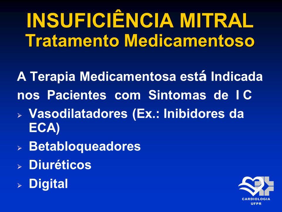 INSUFICIÊNCIA MITRAL Tratamento Medicamentoso