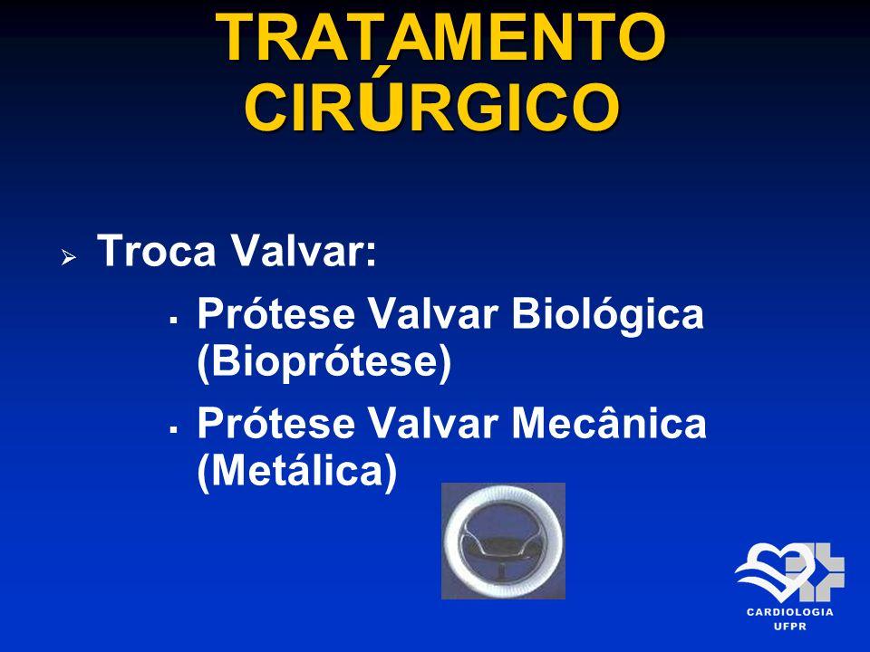 TRATAMENTO CIRÚRGICO Troca Valvar: