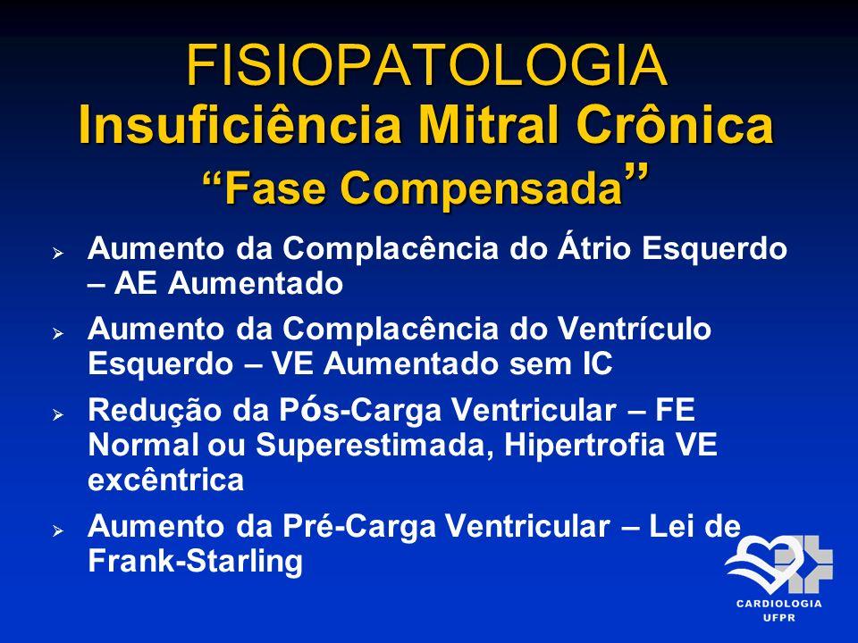 FISIOPATOLOGIA Insuficiência Mitral Crônica Fase Compensada