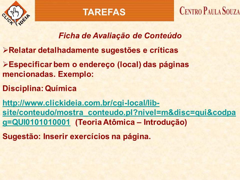 Ficha de Avaliação de Conteúdo