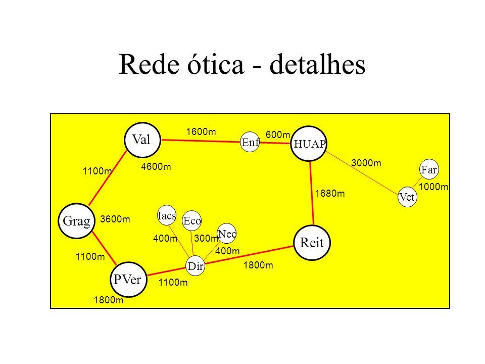Rede ótica - detalhes Val Grag Reit PVer Enf HUAP Far Vet Iacs Eco Nec