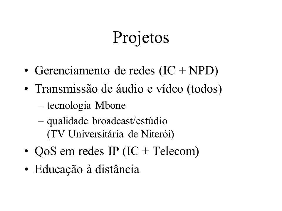 Projetos Gerenciamento de redes (IC + NPD)