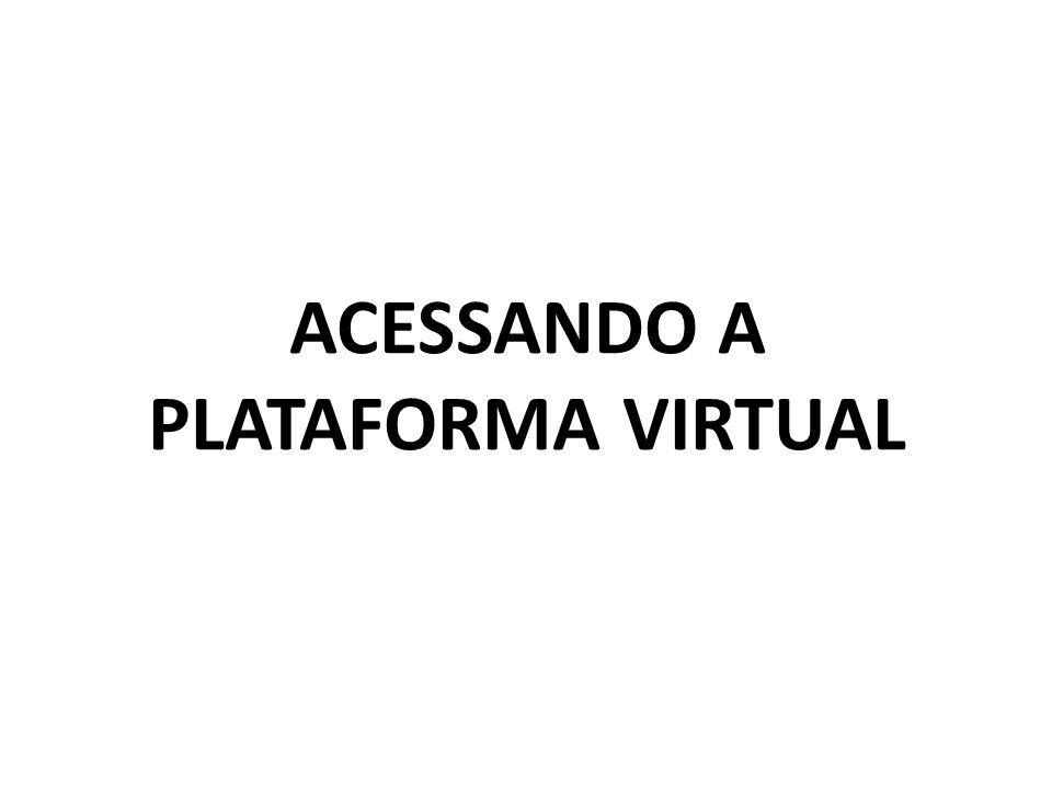 ACESSANDO A PLATAFORMA VIRTUAL