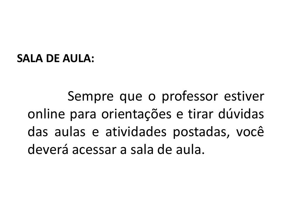 SALA DE AULA: