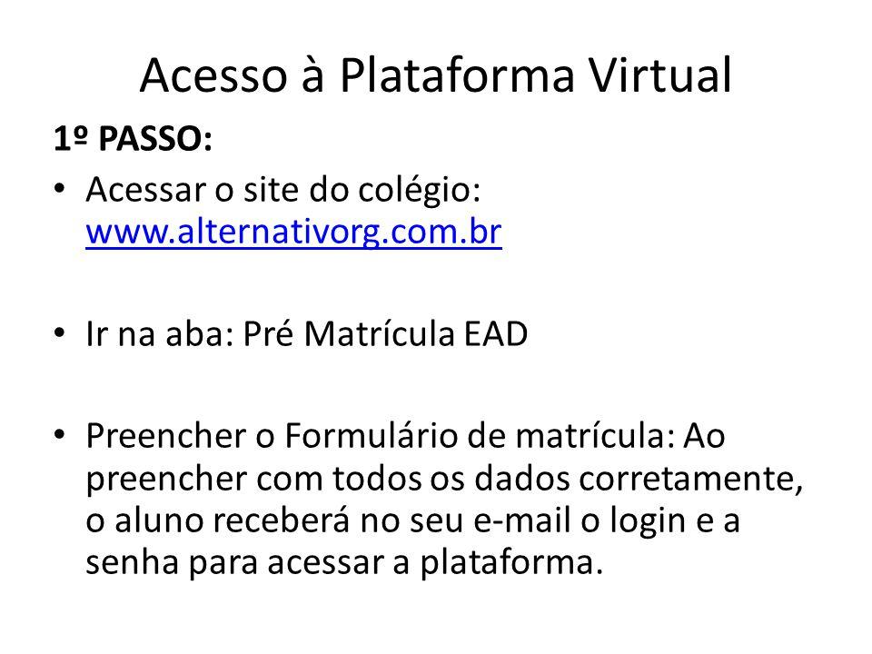 Acesso à Plataforma Virtual