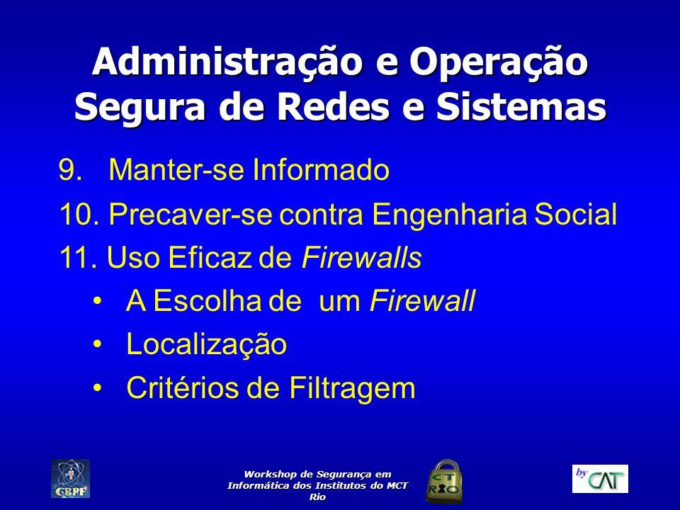 Administração e Operação Segura de Redes e Sistemas