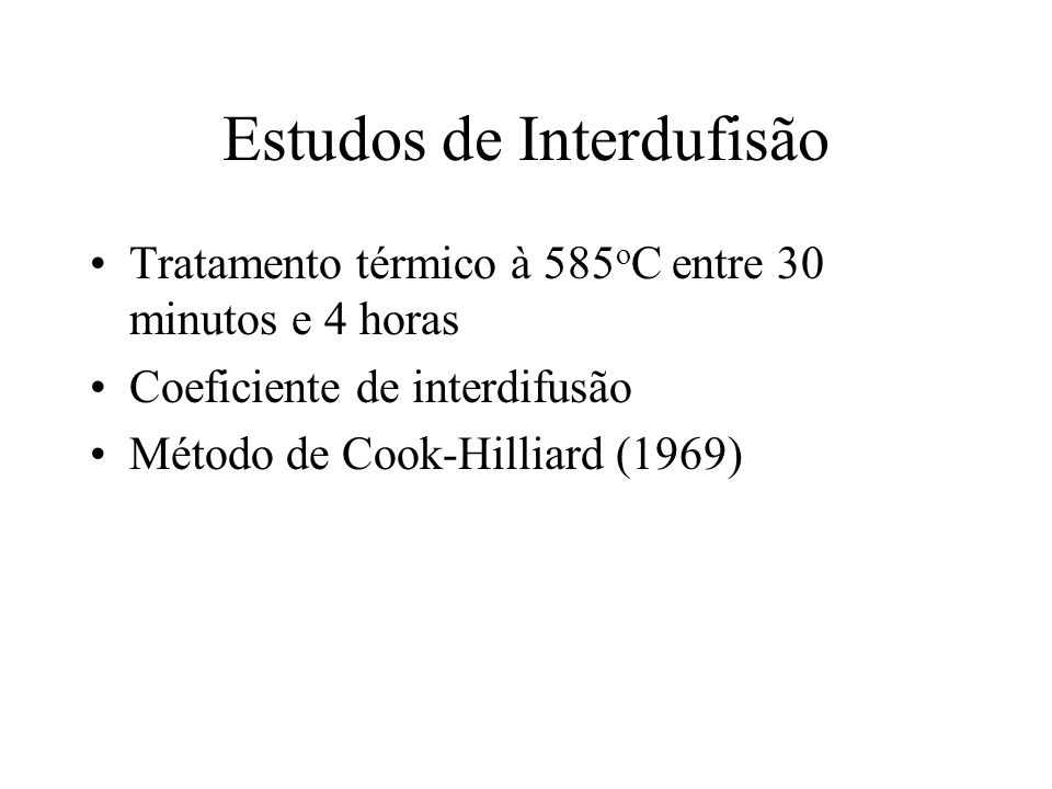 Estudos de Interdufisão