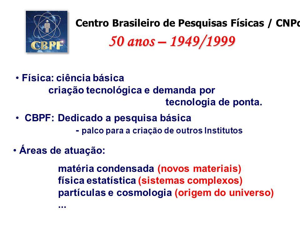 50 anos – 1949/1999 Centro Brasileiro de Pesquisas Físicas / CNPq