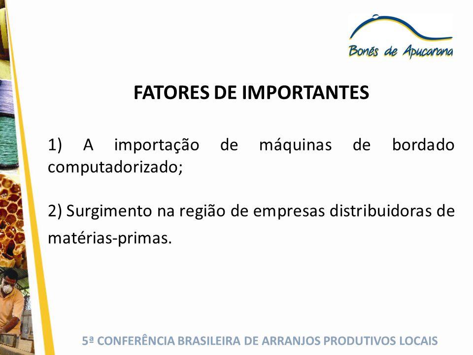 FATORES DE IMPORTANTES