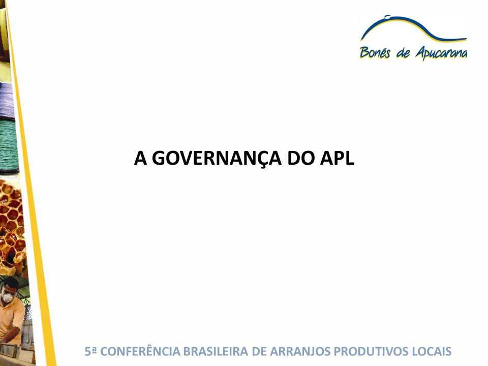 A GOVERNANÇA DO APL