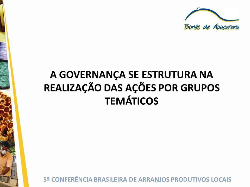 A GOVERNANÇA SE ESTRUTURA NA REALIZAÇÃO DAS AÇÕES POR GRUPOS TEMÁTICOS