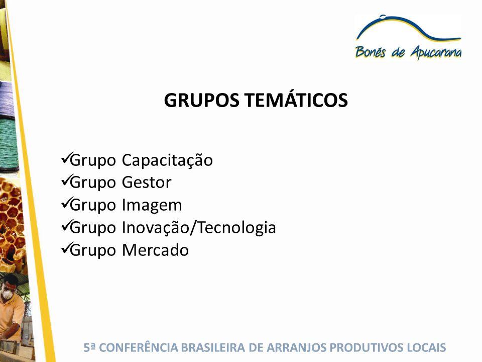 GRUPOS TEMÁTICOS Grupo Capacitação Grupo Gestor Grupo Imagem