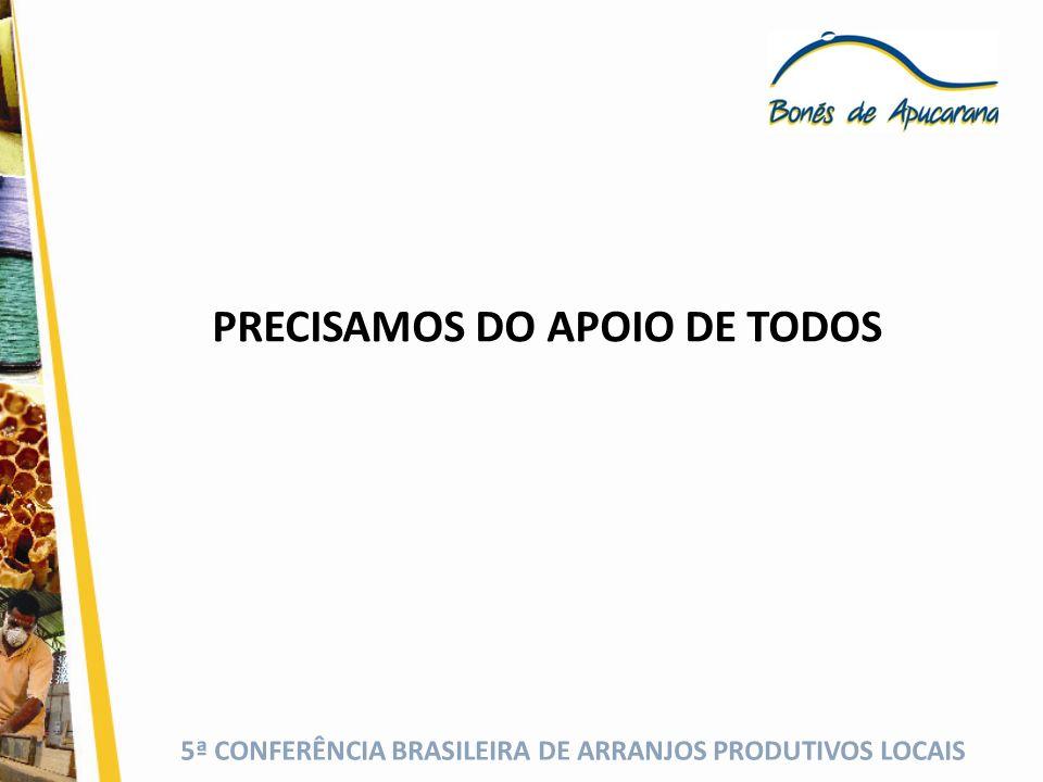 PRECISAMOS DO APOIO DE TODOS
