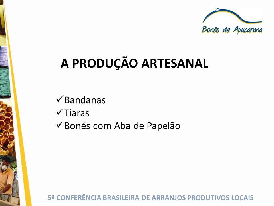 A PRODUÇÃO ARTESANAL Bandanas Tiaras Bonés com Aba de Papelão