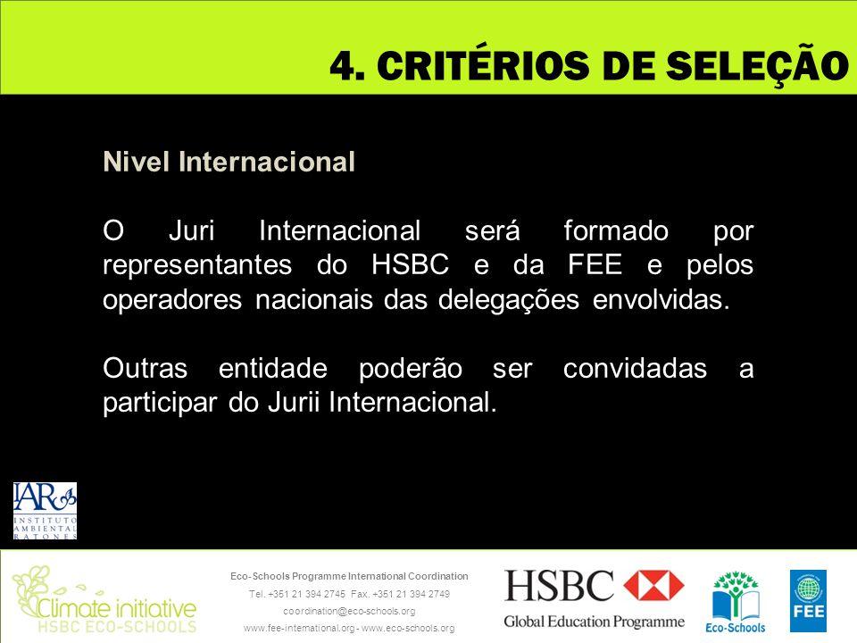 4. CRITÉRIOS DE SELEÇÃO Nivel Internacional