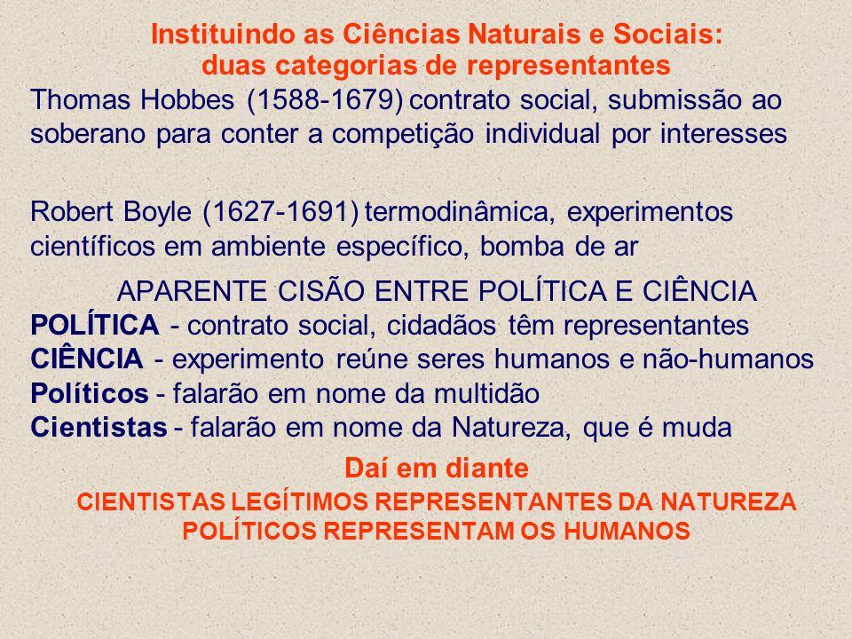 Instituindo as Ciências Naturais e Sociais: