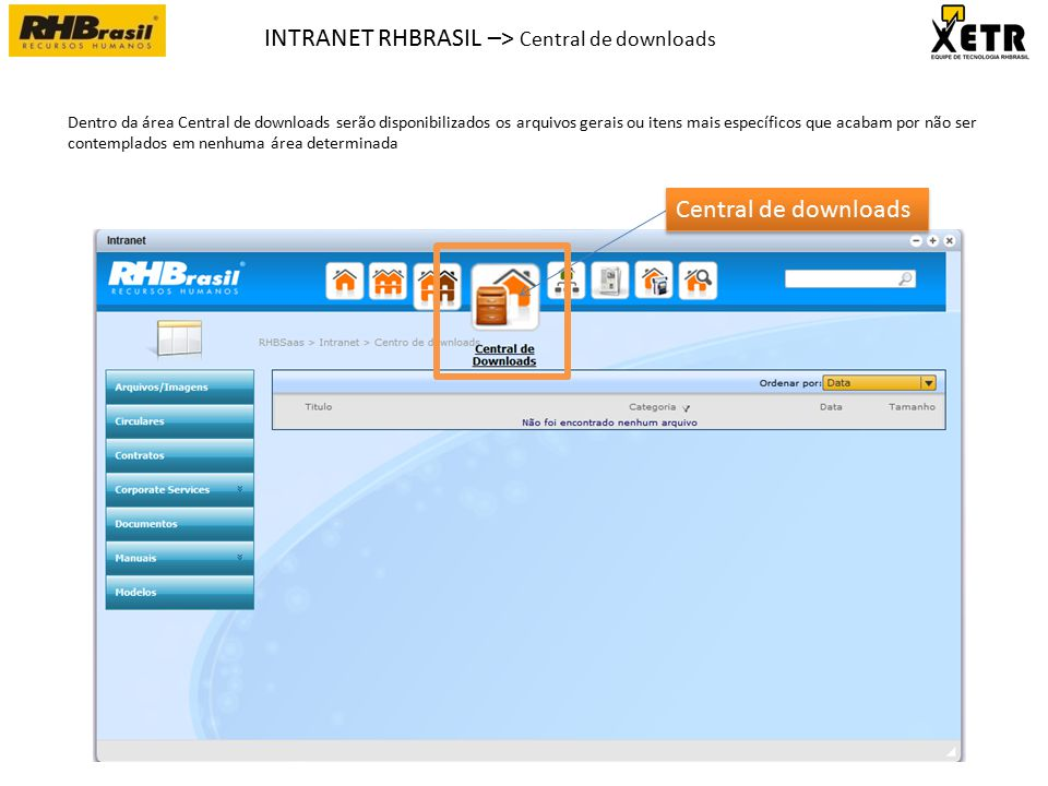 INTRANET RHBRASIL –> Central de downloads