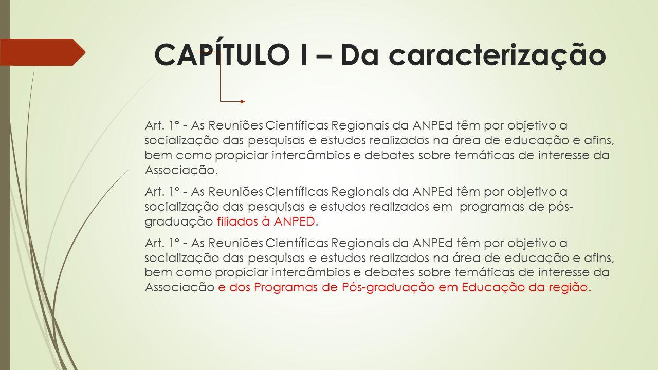 CAPÍTULO I – Da caracterização