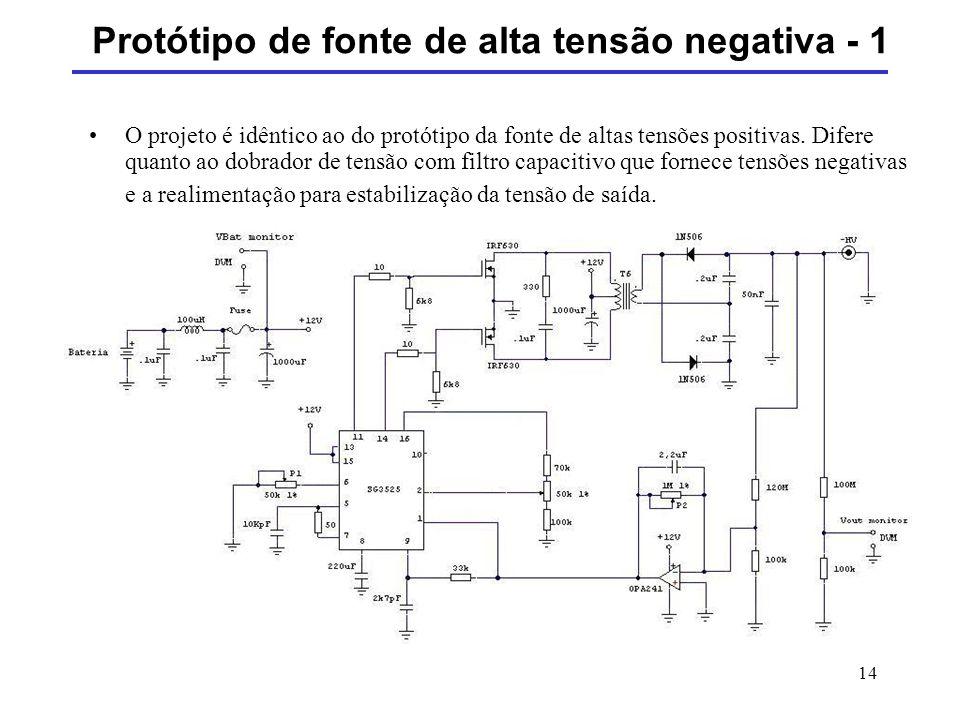 Protótipo de fonte de alta tensão negativa - 1