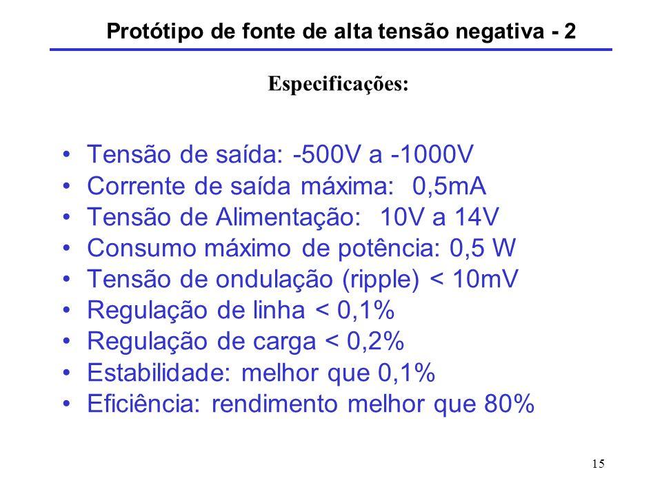 Protótipo de fonte de alta tensão negativa - 2