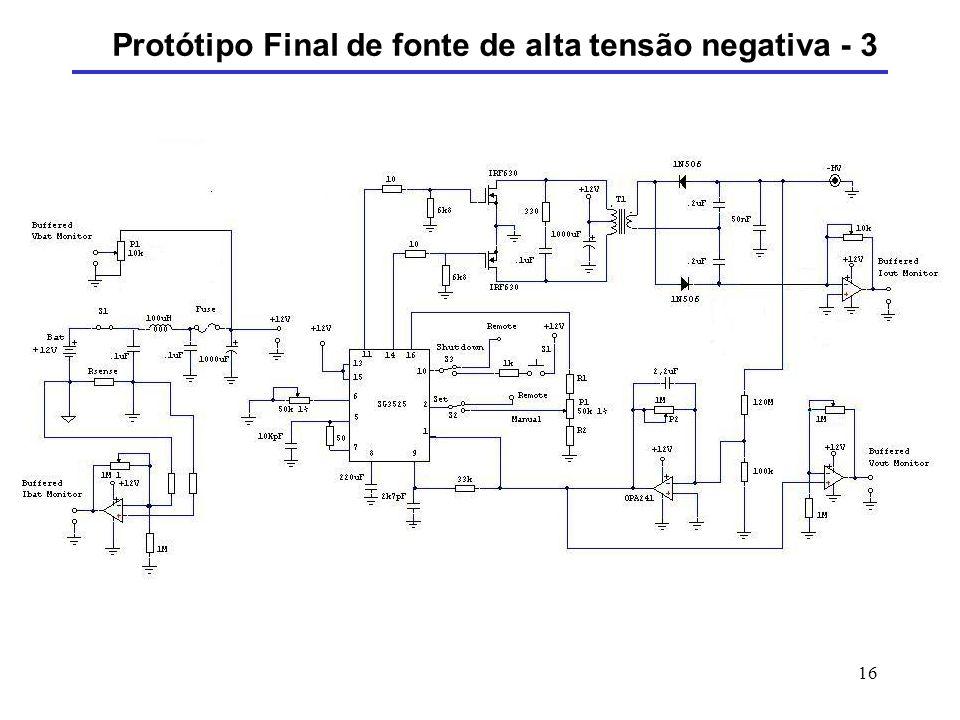 Protótipo Final de fonte de alta tensão negativa - 3