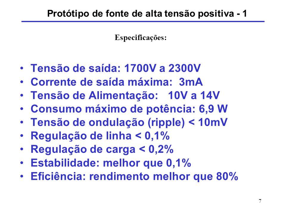 Protótipo de fonte de alta tensão positiva - 1