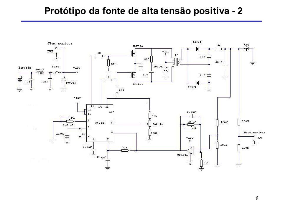 Protótipo da fonte de alta tensão positiva - 2
