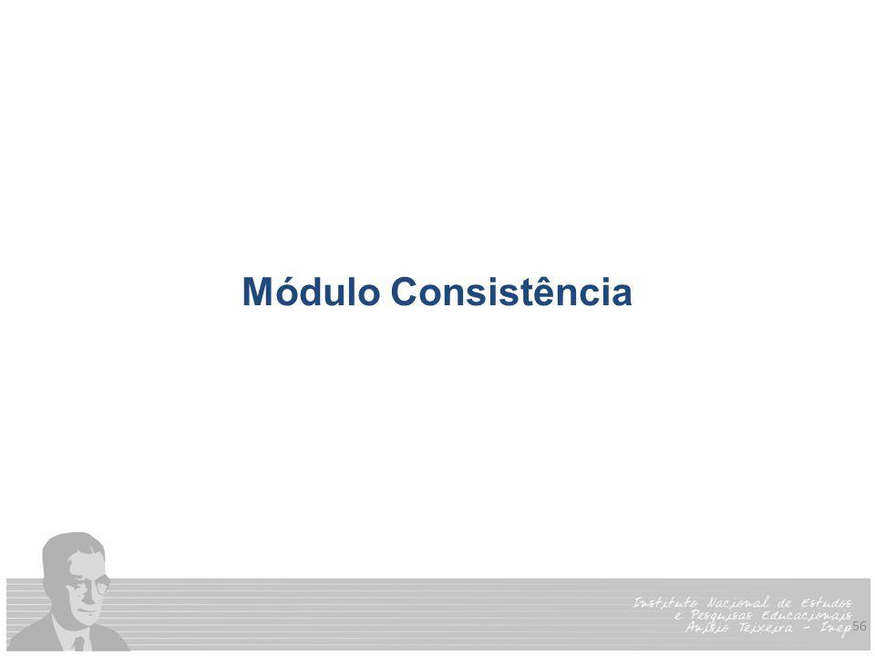 Módulo Consistência