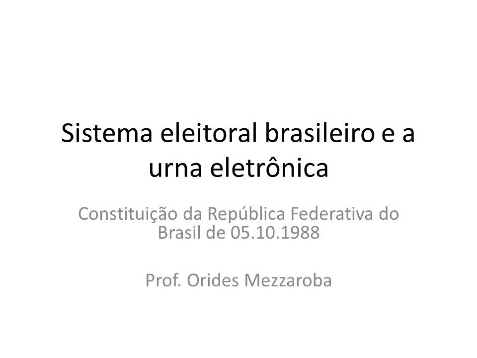 Sistema eleitoral brasileiro e a urna eletrônica