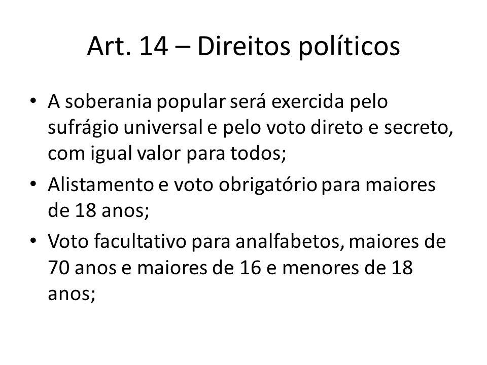 Art. 14 – Direitos políticos