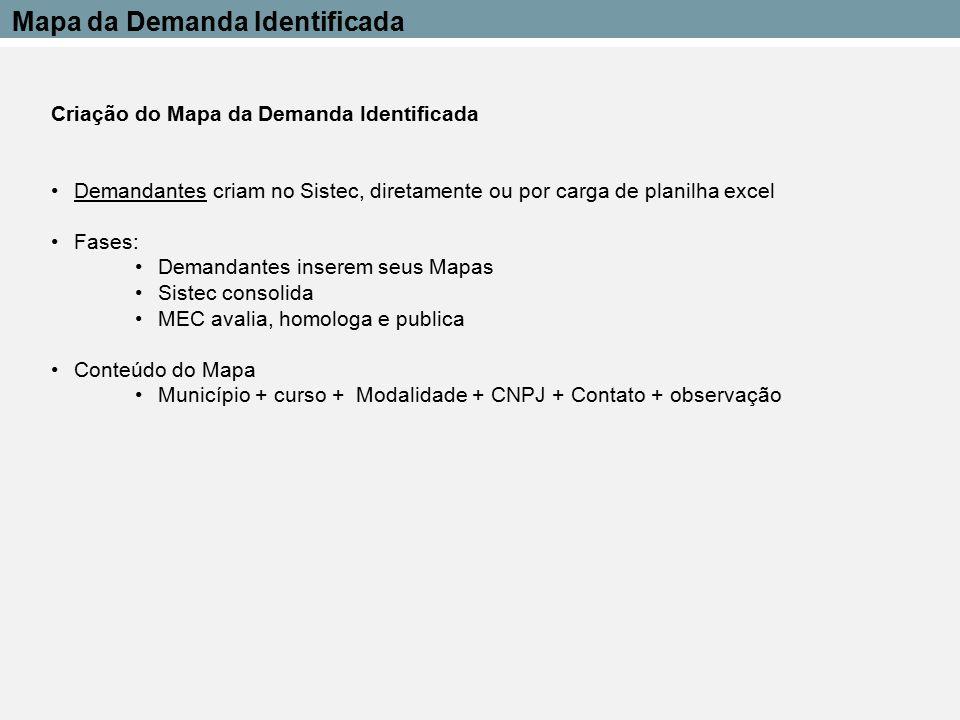 Mapa da Demanda Identificada
