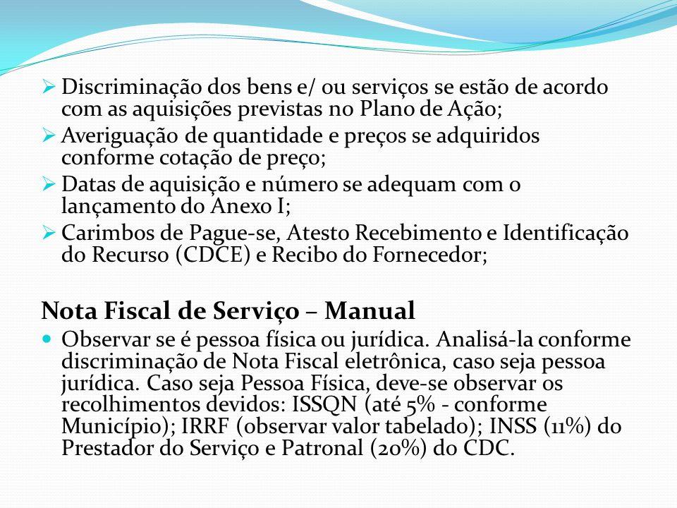 Nota Fiscal de Serviço – Manual
