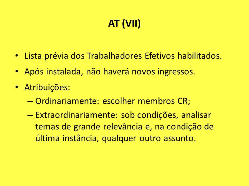 AT (VII) Lista prévia dos Trabalhadores Efetivos habilitados.