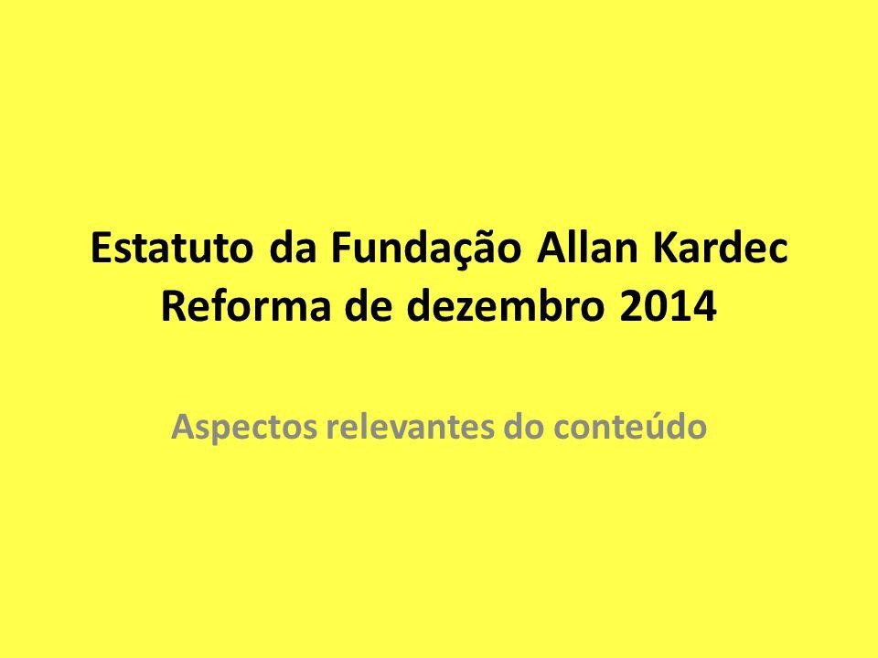 Estatuto da Fundação Allan Kardec Reforma de dezembro 2014