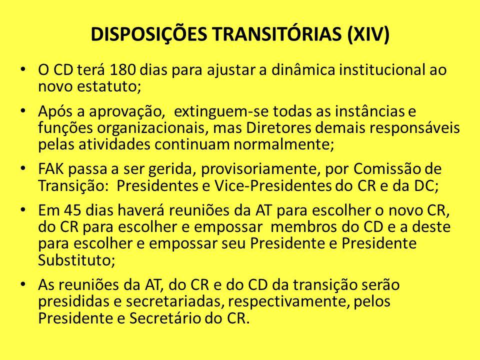 DISPOSIÇÕES TRANSITÓRIAS (XIV)