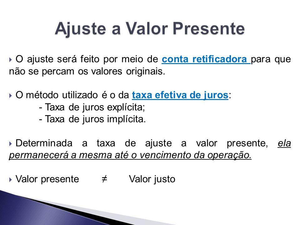 Ajuste a Valor Presente