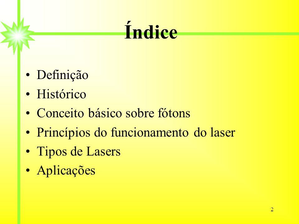 Índice Definição Histórico Conceito básico sobre fótons