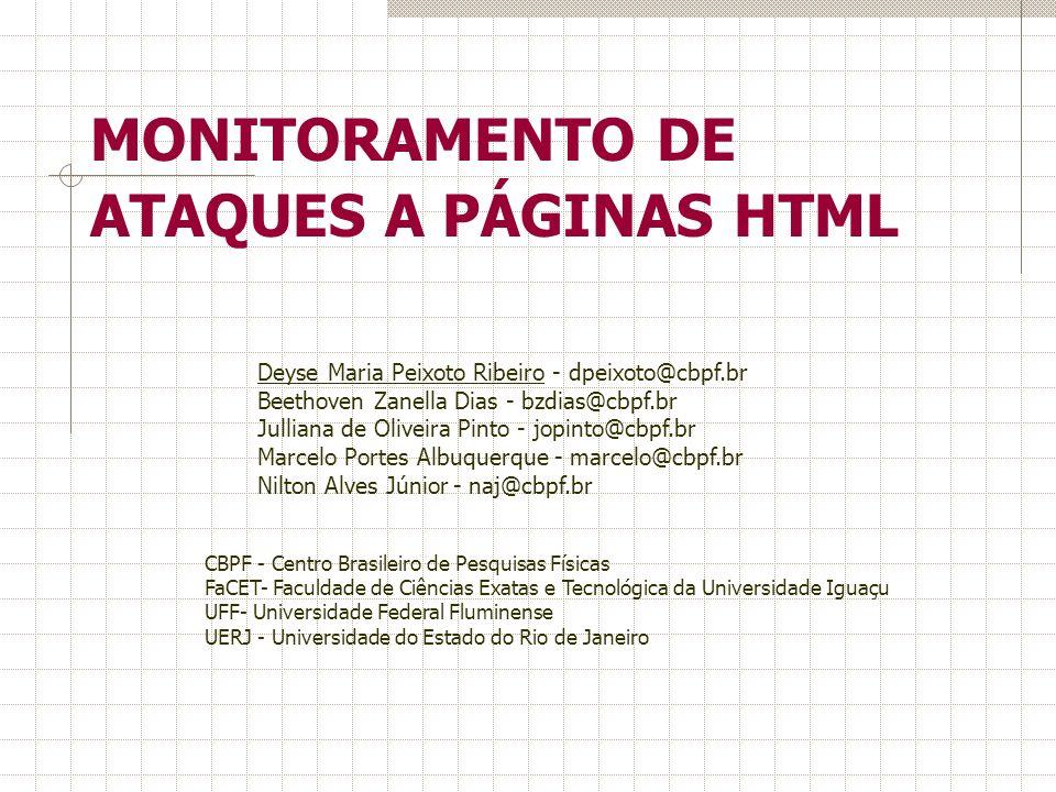 MONITORAMENTO DE ATAQUES A PÁGINAS HTML
