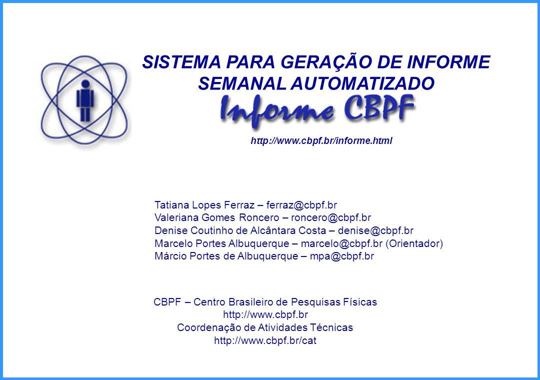 SISTEMA PARA GERAÇÃO DE INFORME SEMANAL AUTOMATIZADO