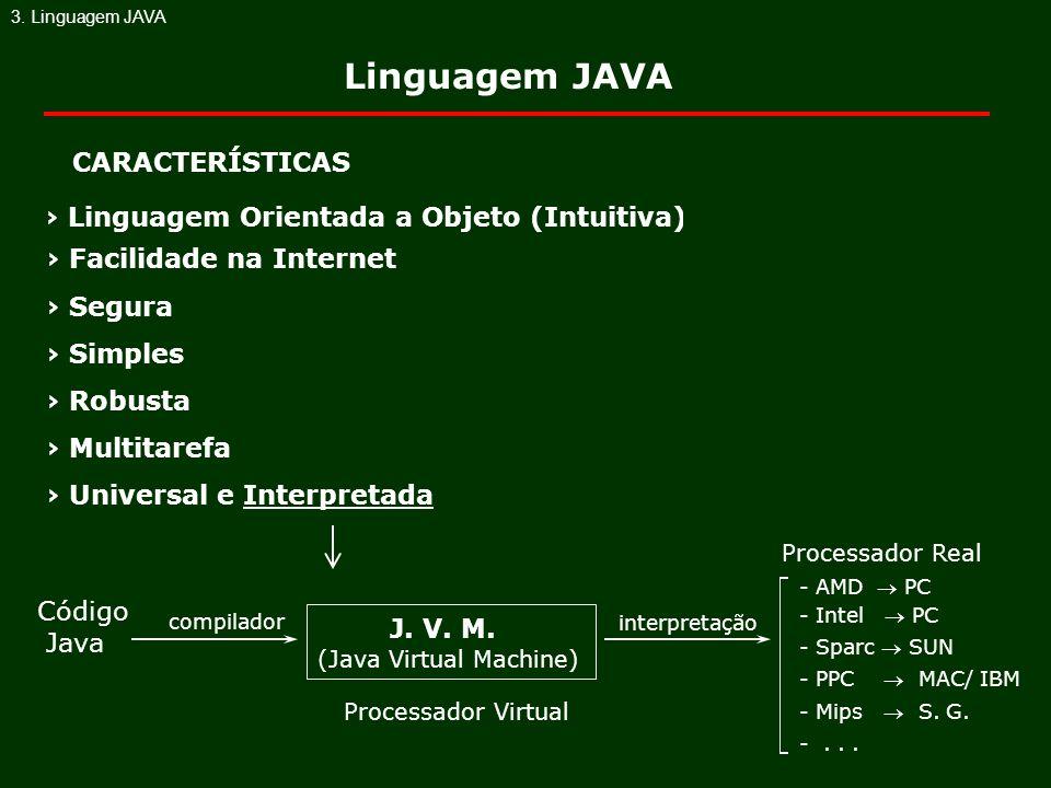 Linguagem JAVA › Linguagem Orientada a Objeto (Intuitiva) J. V. M.
