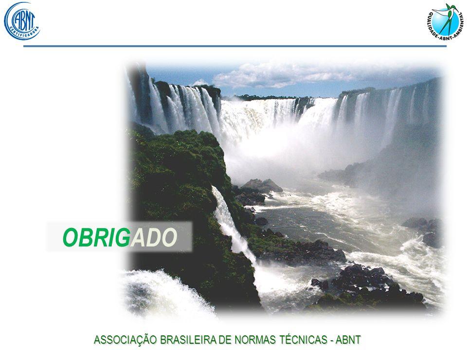 OBRIGADO ASSOCIAÇÃO BRASILEIRA DE NORMAS TÉCNICAS - ABNT