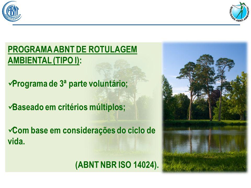 PROGRAMA ABNT DE ROTULAGEM AMBIENTAL (TIPO I):