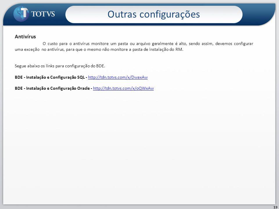 Outras configurações Antivírus
