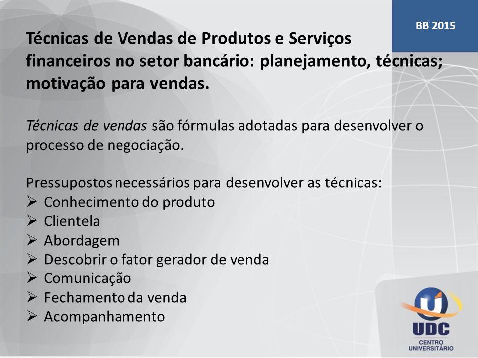 Técnicas de Vendas de Produtos e Serviços