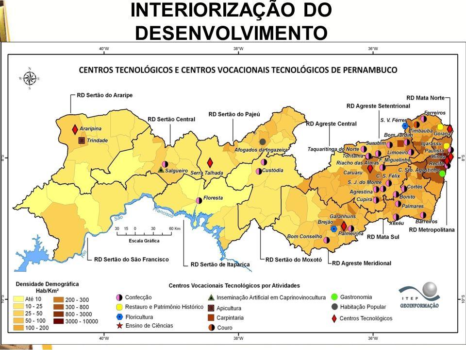 INTERIORIZAÇÃO DO DESENVOLVIMENTO RESULTADOS DO PROCVT NORDESTE