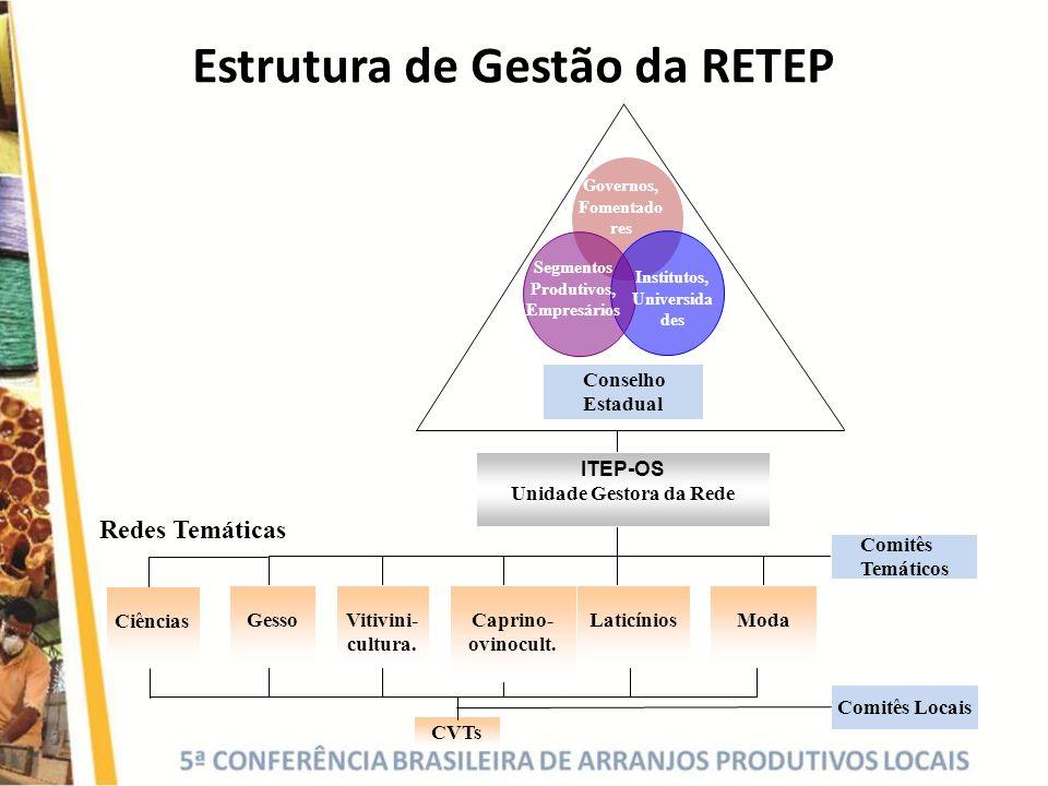 Estrutura de Gestão da RETEP