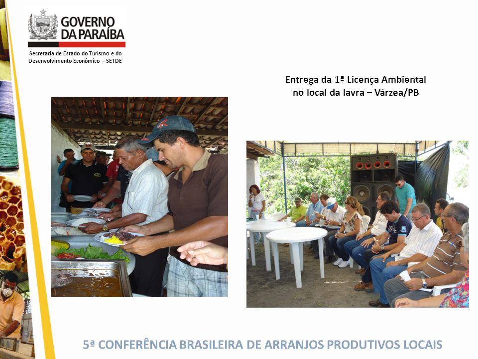 Entrega da 1ª Licença Ambiental no local da lavra – Várzea/PB