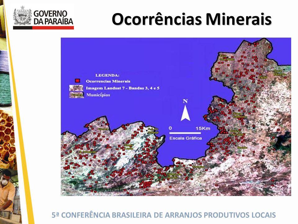 Ocorrências Minerais