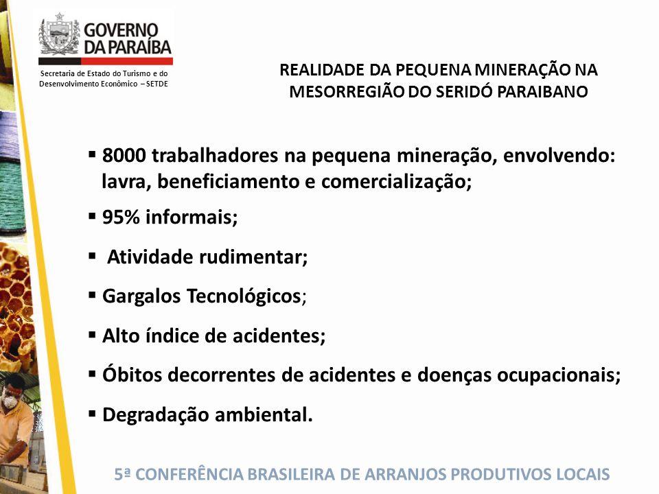 8000 trabalhadores na pequena mineração, envolvendo: