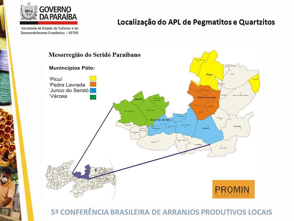 Localização do APL de Pegmatitos e Quartzitos